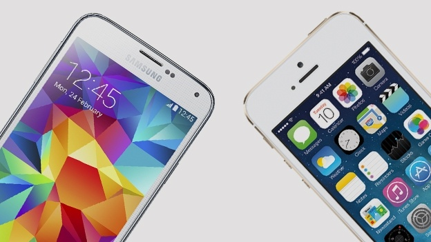 Samsung Galaxy S5 y iPhone 5S